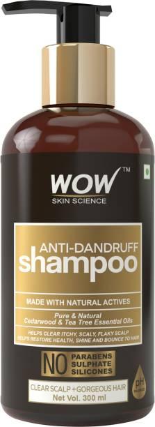 WOW SKIN SCIENCE Anti Dandruff No Parabens & Sulphates Shampoo