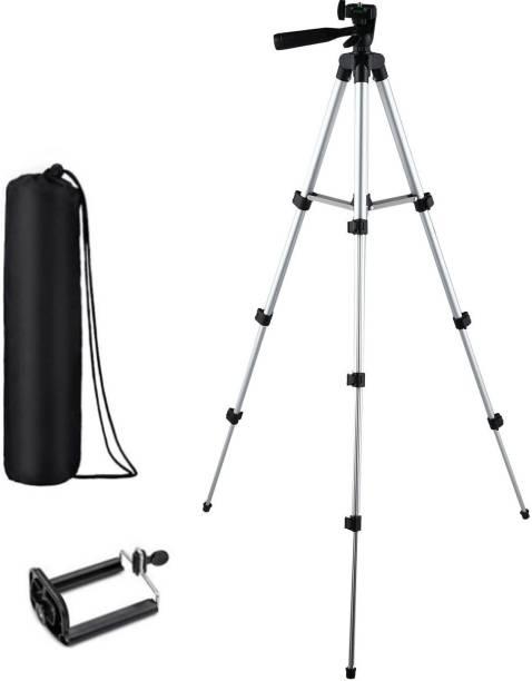 KBOOM Camera 3110 Tripod Stand Mobile Phone Mini Portable Aluminum Tripod with Mobile Phone holder Tripod