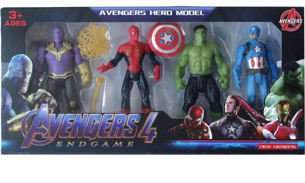PlastoPaid Original Super Hero Team Avengers END GAME Bath Toy