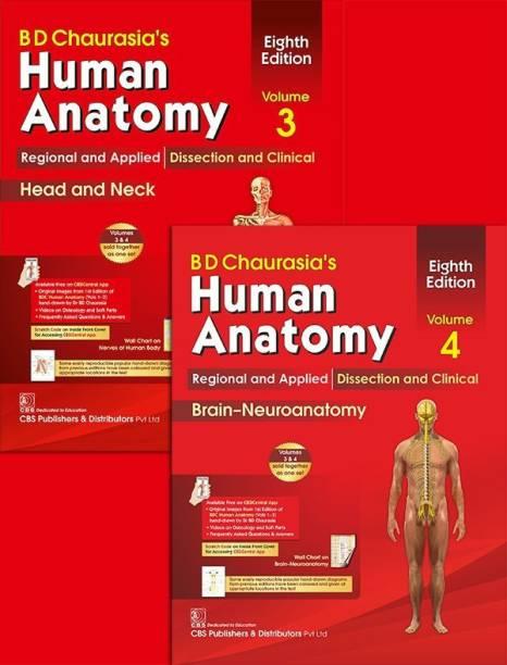 BD Chaurasia's Human Anatomy, Volumes 3 & 4
