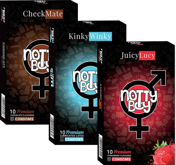 NottyBoy Ultra Thin Plain and Flavour Combo Men's Pack (30 Pcs) Condom