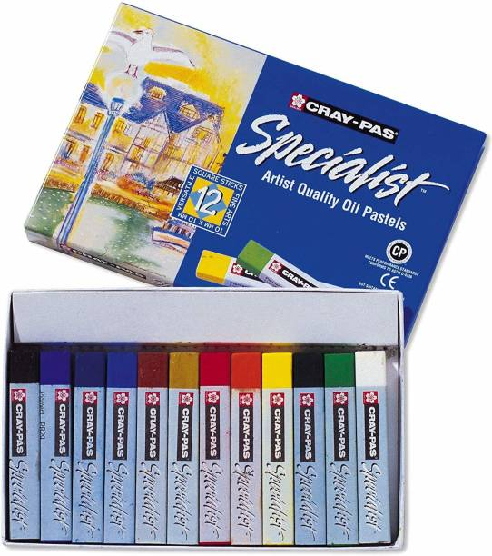 SAKURA Esp12 12-Piece Cray-Pas Specialist Oil Pastel Set -- 12 Color