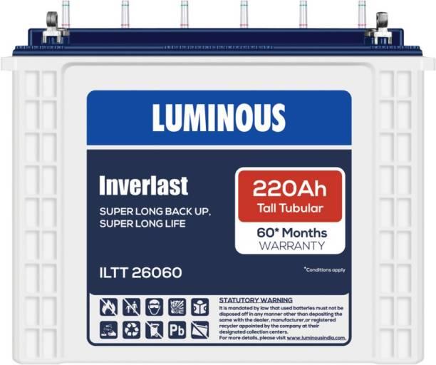 LUMINOUS Inverlast ILTT26060 220Ah Tall Tubular Battery Tubular Inverter Battery
