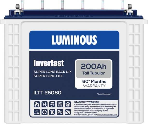 LUMINOUS Inverlast ILTT25060 200Ah Tall Tubular Battery Tubular Inverter Battery