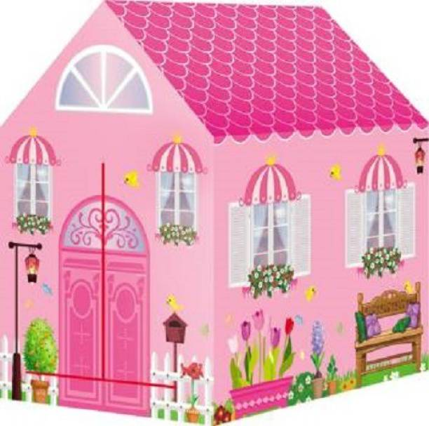AV INT Playhood PRINCESS PLAY TENT HOUSE FOR KIDS - PINK COLOR (Pink)