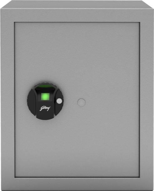 Godrej Forte Pro 40 Litres Biometric Safe Locker for Home & Office with Optical Finger Print Sensor - Grey Safe Locker
