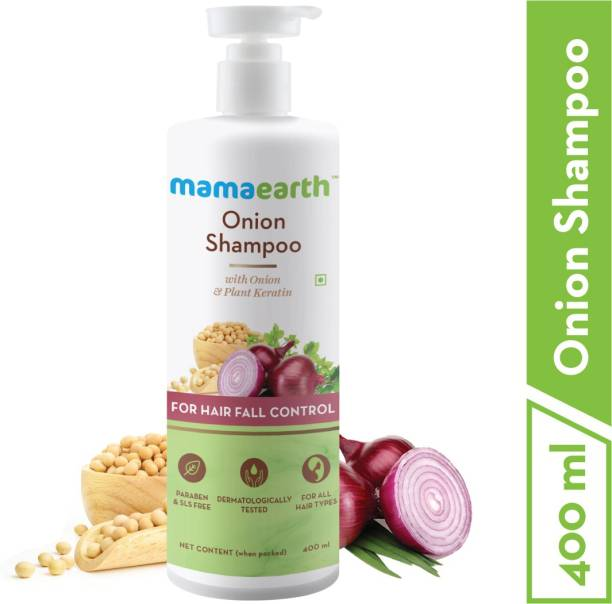 MamaEarth Onion Hair Fall Shampoo for Hair Growth & Hair Fall Control, with Onion Oil & Plant Keratin