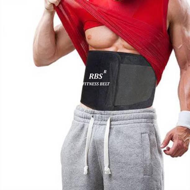 RBS New Heavy Soft Quality FITNESS BELT (Free SIZE) sweat Belt, Slimming belt, Waist shaper, Tummy Trimmer, Sweat slim belt, Belly fat burner, Stomach fat burner, Best Quality, Super stretch, Unisex body shaper for men & women Slimming Belt