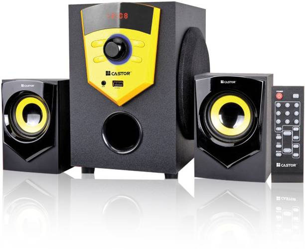 CASTOR CTE210 2.1 Channel Multimedia Home Theatre Speaker System 20 W Bluetooth Home Theatre