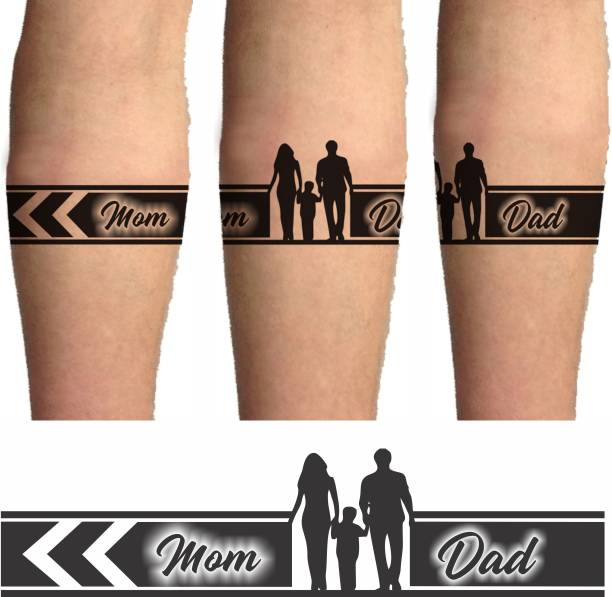 voorkoms MOM DAD HAND TRIBAL TATTOO TWO DESIGN IN COMBO