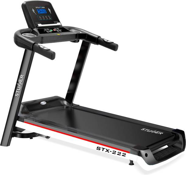 Stunner Fitness STX-222 2.0 HP with MP3 and Training Programs for Cardio Workout, Motorized Treadmill