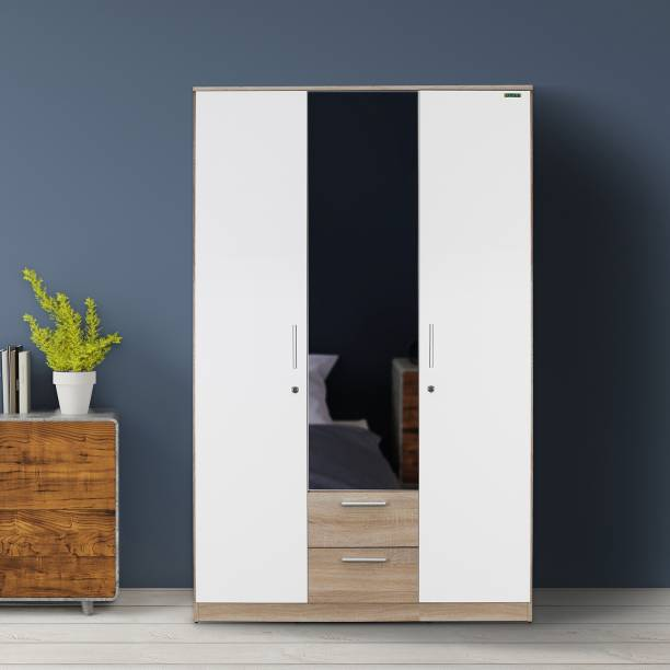 Zuari Niko Engineered Wood 3 Door Wardrobe
