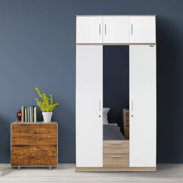 Zuari Niko with Loft Engineered Wood 3 Door Wardrobe