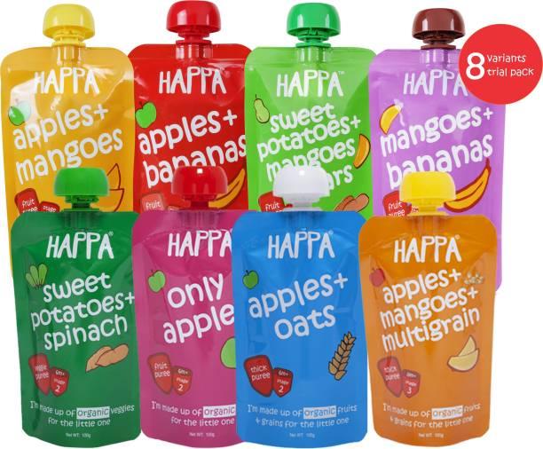 Happa Organic Fruit, Veggie and Grain Puree, baby food, anti-bacterial neem wood comb for infants, kids&baby Cereal