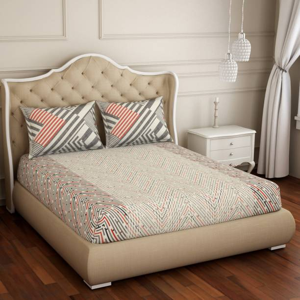 SPACES 144 TC Cotton Double Printed Bedsheet
