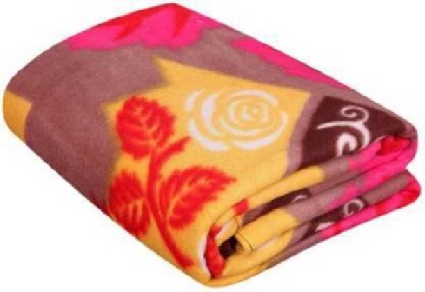 BIZIM Floral Single Fleece Blanket