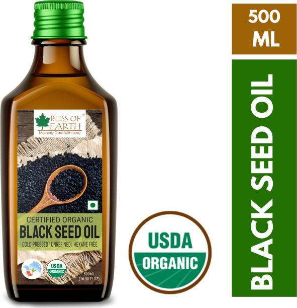 Bliss of Earth 500ML USDA organic kalonji oil for hair growth & consumption Hair Oil