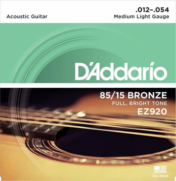 D'ADDARIO Acoustic EZ920 85/15 Bronze Medium Light Acoustic Guitar Strings Guitar String