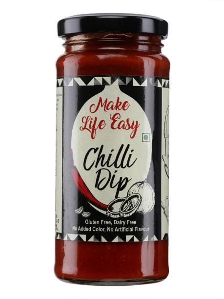 Make Life Easy 100% Vegetarian Gluten Free and Diary Free Chilli Dip(250 grams)-(Pack of 1) Dip