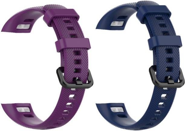 Epaal Silicone Band Compatible with Honor Band 5 & Honor Band 4 Purple & Blue Smart Watch Strap Smart Watch Strap