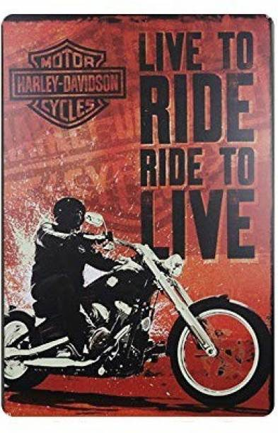 House of Queens Live To Ride Ride To Live Retro Vintage Decorative Tin Metal Sign For Home | Kitchen | Bar | Office | Wall Hanging Decor Sign