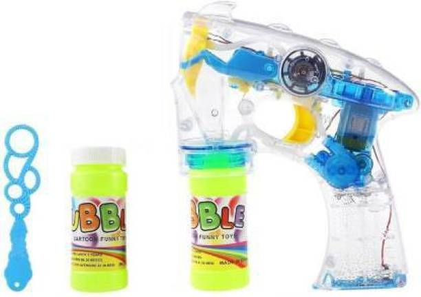 Mickleys battery Operated Led Bubble Shooter Gun with Bubble Bottle Inside Guns & Darts Toy Bubble Maker