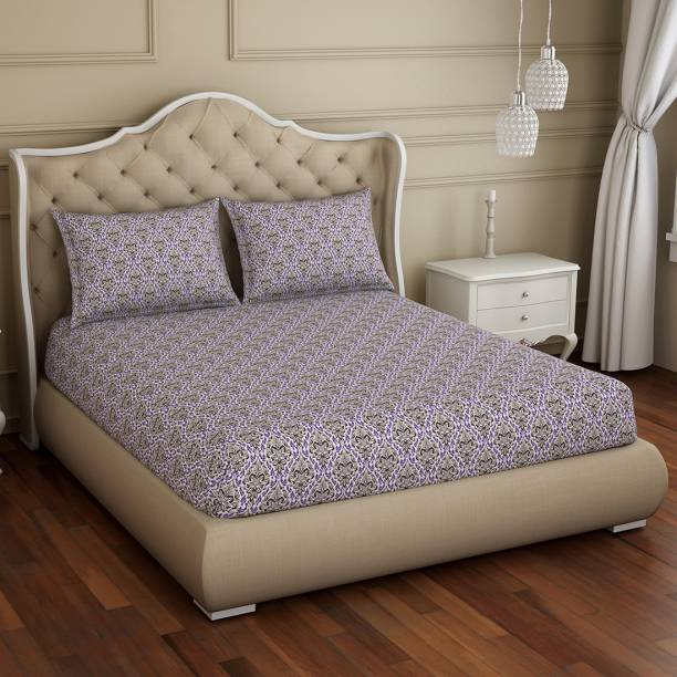 Welspun 150 TC Polycotton Double Abstract Bedsheet