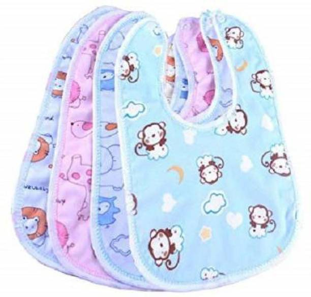 little steps Baby Double Layered Waterproof Bibs Pack Of 4