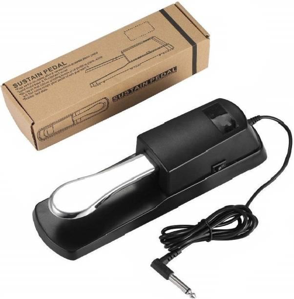 Techtest Sustain Pedal for Keyboard Digital Piano Foot Pedal Sustain Pedal Universal for Piano Midi Electronic Keyboards Sustain Foot Pedal with Polarity Switch Compatible with Synthesizers Design Foot Pedal Damper Piano Foot Pedal, Guitar Foot Pedal Compatible with Any Electronic Keyboard with 1/4 Input Jack Damper & Sustain Pedal