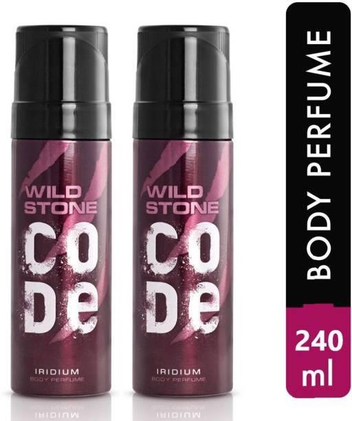 Wild Stone IRIDIUM Perfume Body Spray  -  For Men & Women
