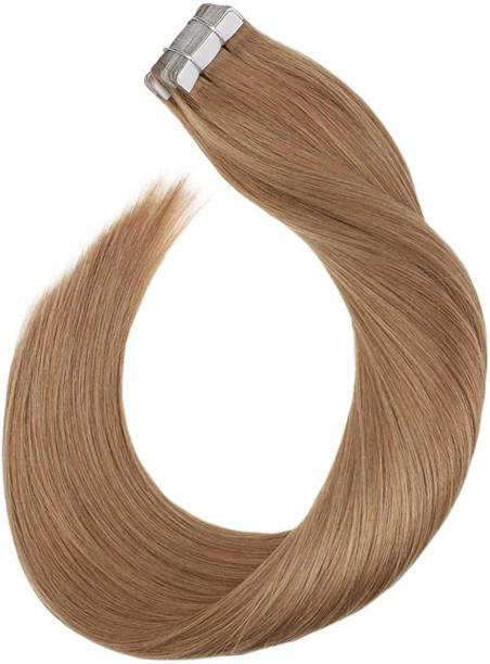 Ritzkart Human  100% 25Inch Golden Brown tape in Straight  Extensions 1Setof20Pc quality Hair Extension