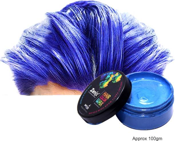 zenix TRUOM Temporary Hair color (Pack of 1, Blue) Hair Wax