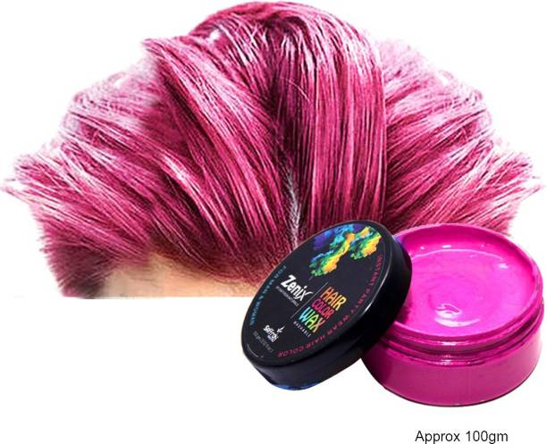 zenix TRUOM Temporary Hair color (Pack of 1, PINK) Hair Wax