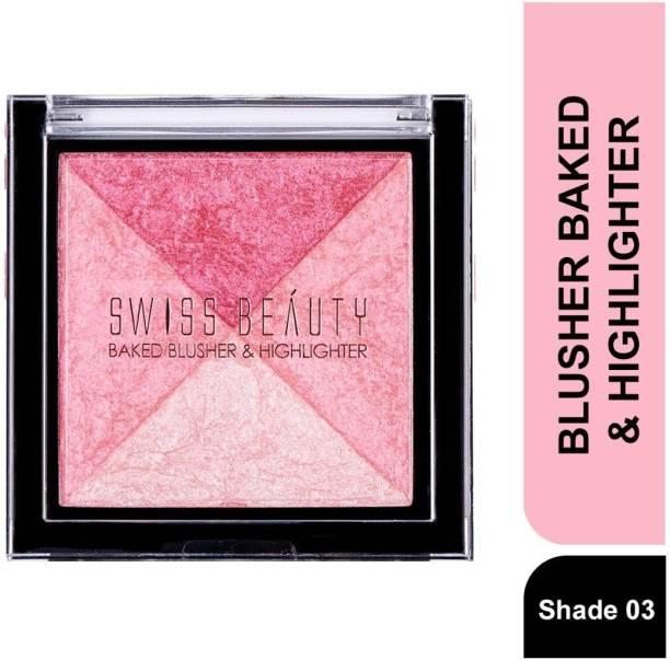 SWISS BEAUTY BLUSHER BAKED &HIGHLIGHTER SB-806 Shade 03 Highlighter