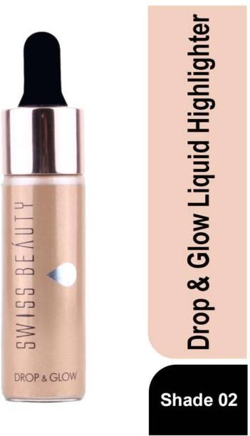 SWISS BEAUTY Blusher Liquid Highlighter SB-810 02-Gold Highlighter