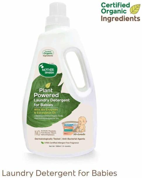 Mother Sparsh Plant Powered Baby Laundry Liquid Detergent with Bio -Enzymes and Eucalyptus Oil Liquid Detergent