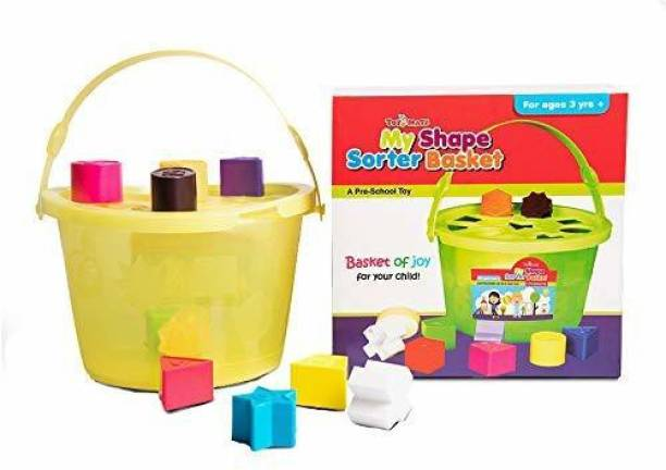 Sanchi Creation My Shape SORTER Basket- A Pre School Toy with 10 Shapes and Colours