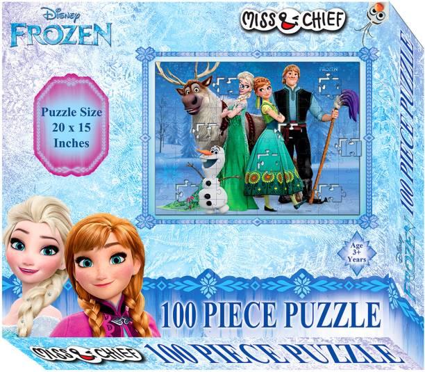 Miss & Chief 100 Puzzles Frozen