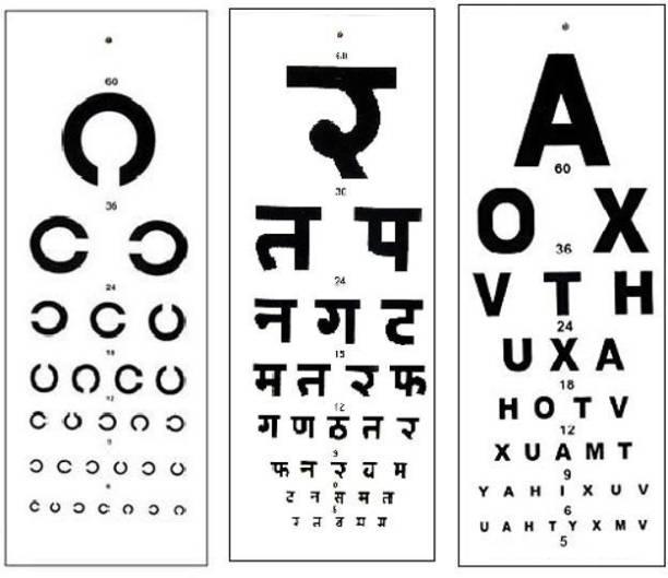 ASF UNIVERSAL Hindi English and C Chart Vision Test Chart