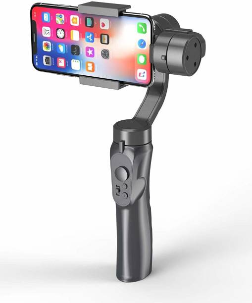 IMMUTABLE 3 Axis Handheld Smartphone Gimbal Stabilizer, Zoom Capability, Object Tracking, Video Edit & Share Support, Action Camera Support, 8 Hours Battery Life 3 Axis Gimbal