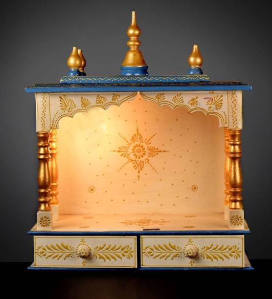 kamdhenu art and craft Solid Wood Home Temple