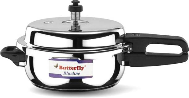 Butterfly Present Blueline 2 liter capacity stainless steel 2 L Induction Bottom Pressure Cooker