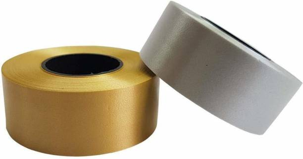 atul gift& toys gold and silver ribbon Gold, Silver PP (Polypropylene) Ribbon