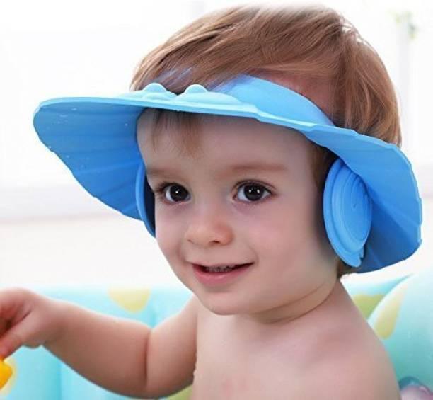 Rixim Soft Bathing Baby Shower bath Cap Wash Hair For Children Eye Ear Protector Leaves Shape Shower Shampoo Hat