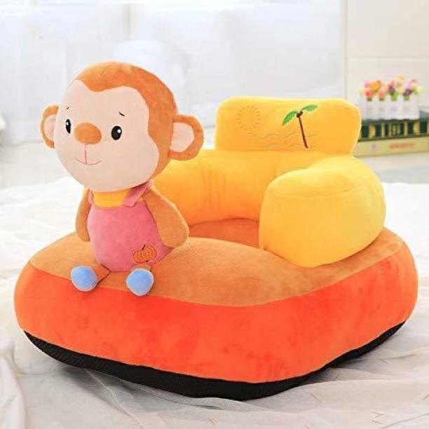 AVS Monkey Shape Soft Plush Cushion Baby Sofa Seat or Rocking Chair for Kids - 45 cm Multicolor Fabric Sofa