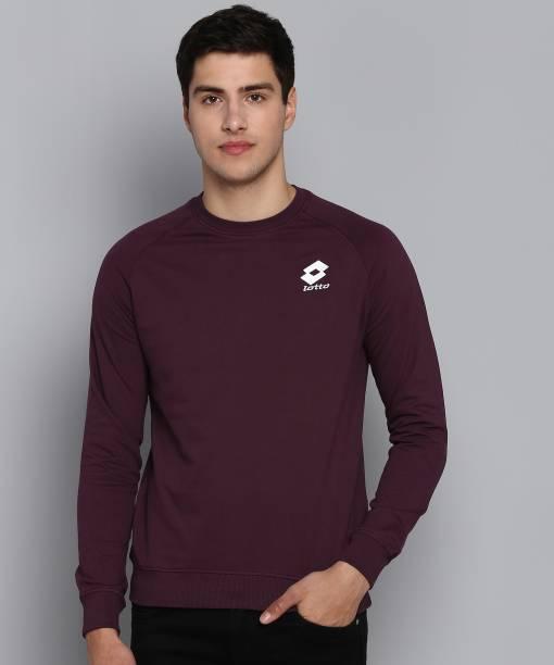 LOTTO Full Sleeve Solid Men Sweatshirt
