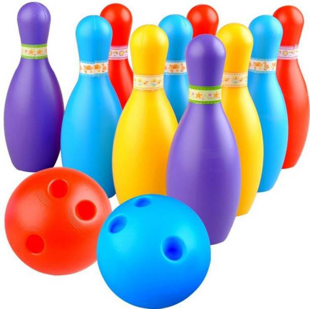 BKDT Marketing Bowling Set with 10 Bottles and 2 Balls Bowling