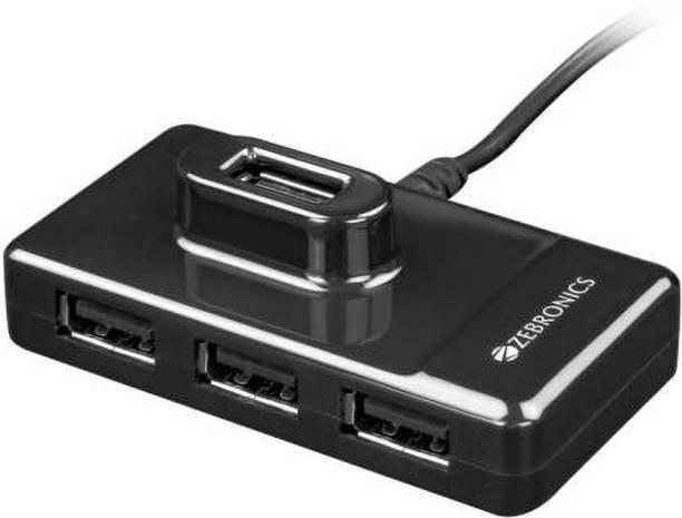 ZEBRONICS ZEB-100HB USB Hub High Speed 4 Port USB Hub ( Black ) ZEB-100HB USB Hub High Speed 4 Port USB Hub ( Black ) USB Hub