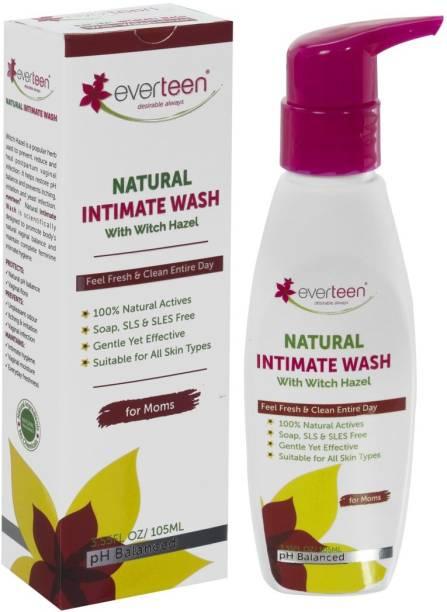 everteen Witch Hazel Natural Intimate Wash for Feminine Hygiene in Moms – 1 Pack (105 ml) Intimate Wash