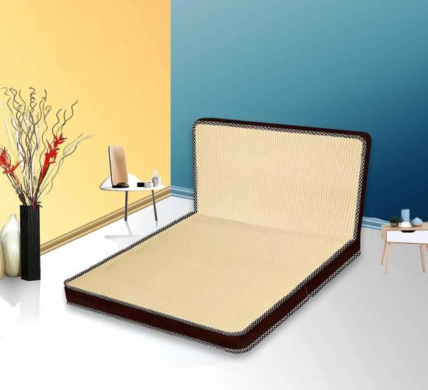 Comforto Tri-Fold Single Size Foam Mattress 4 inch Double High Density (HD) Foam Mattress